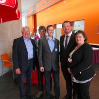 Chamer Delegierte mit dem neuen Generalsekretär Uli Grötsch